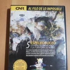 Cine: ESPELEOBUCEO. LOS CENOTES MEXICANOS Y LA FUENTONA DE MURIEL (AL FILO DE LO IMPOSIBLE Nº 5) DVD. Lote 243308810