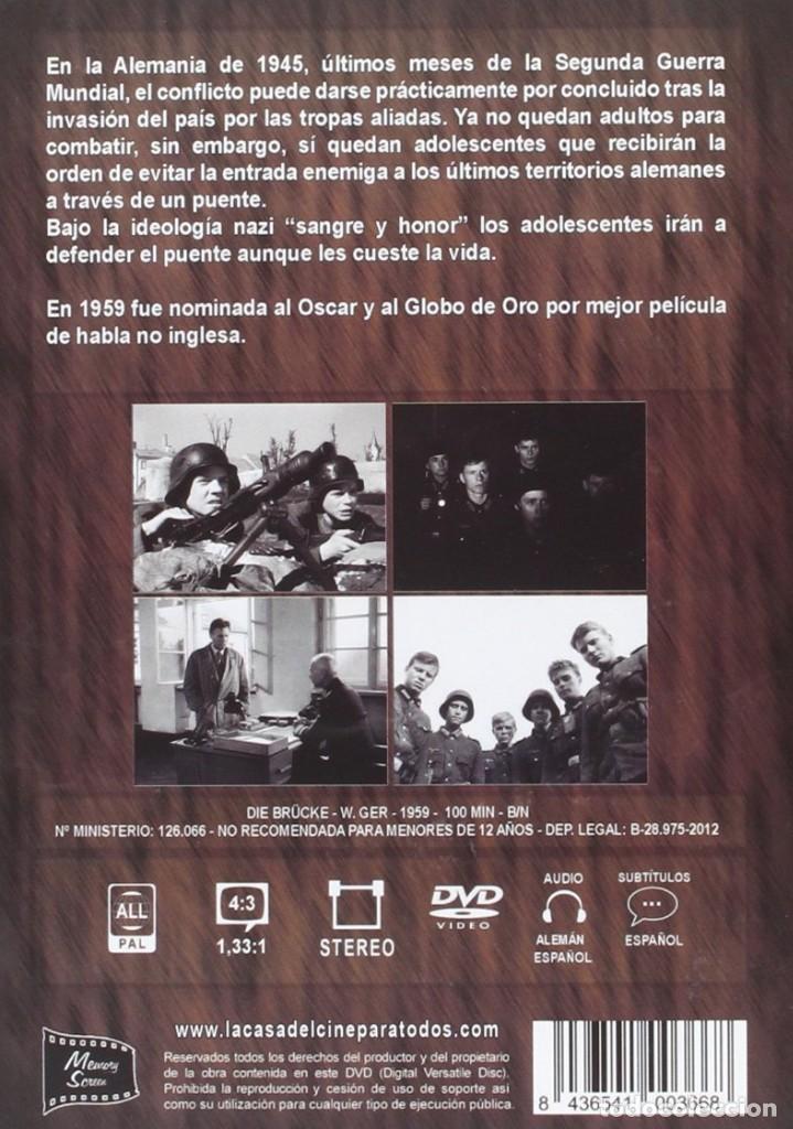 Cine: EL PUENTE (FOLKER BOHNET, FRITZ WEPPER) - DVD NUEVO Y PRECINTADO - Foto 2 - 243590605