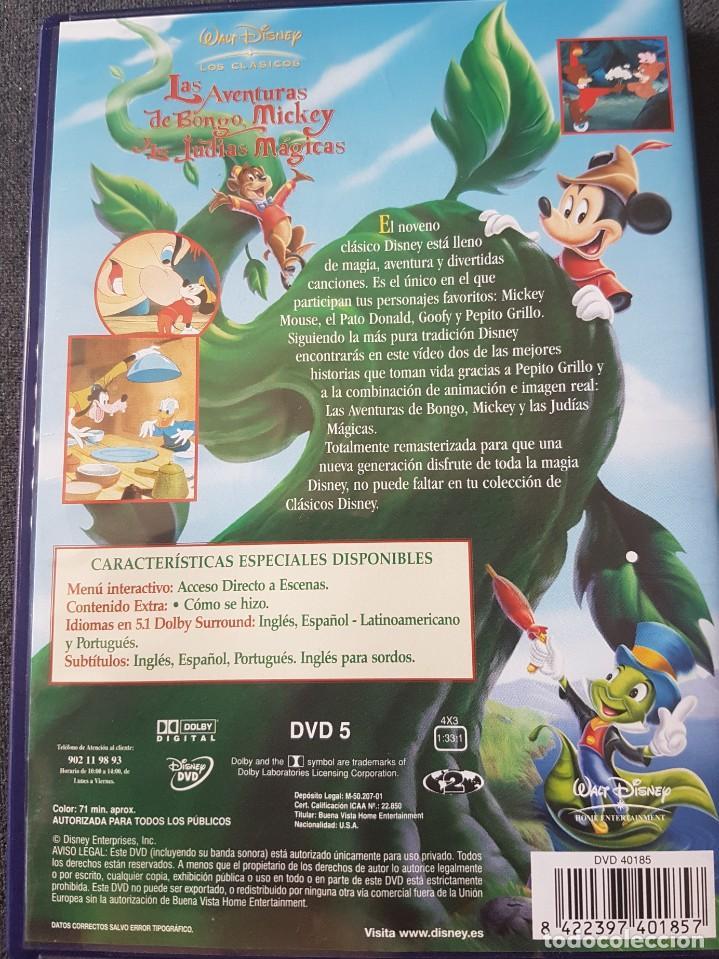 Cine: Las aventuras de Bongo, Mickey y las judías mágicas DVD clásico 9 Disney - Foto 2 - 243592255