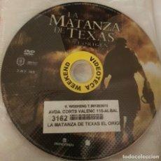 Cine: PELICULA EN DVD. SOLO DISCO. LA MATANZA DE TEXAS. EL ORIGEN. Lote 243777315