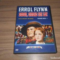 Cine: DODGE CIUDAD SIN LEY DVD ERROL FLYNN WARNER COMO NUEVA. Lote 243781160