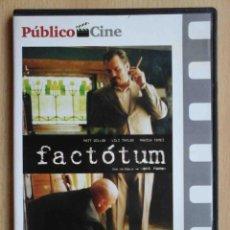 Cine: TODODVD: FACTÓTUM (MATT DILLON, MARISA TOMEI, LILI TAYLOR, FISHER STEVENS, DIDIER FLAMAND). Lote 243928130