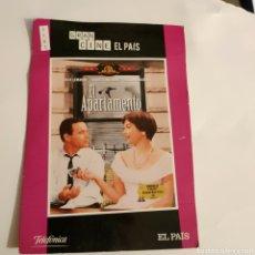 Cine: CTN1181 EL APARTAMENTO DVD EDICION CARTON SEGUNDAMANO. Lote 243928345