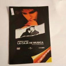 Cine: CTN1188 LA CAJA DE MÚSICA DVD EDICION CARTON SEGUNDAMANO. Lote 243928555