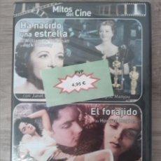 Cine: DVD. HA NACIDO UNA ESTRELLA DE WILLIAM A. WELLMAN Y JACK CONWAY. (1937) / EL FORAJIDO DE HOWARD HUGH. Lote 243930705