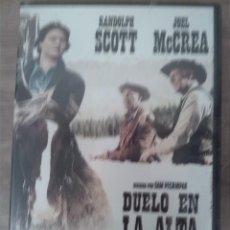 Cine: DVD. DUELO EN LA ALTA SIERRA. RANDOLPH SCOTT. JOEL MCCREA. (1962). NUEVA PRECINTADA. Lote 243931680
