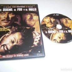Cine: EL BUENO, EL FEO Y EL MALO DVD EDICION ESPECIAL COLECCIONISTA LEE VAN CHEEF CLINT EASTWOOD ELI WALLA. Lote 243931740