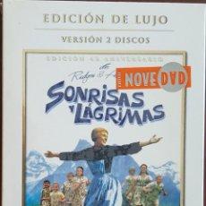 Cine: DVD DOBLE 2 DVD'S / SONRISAS Y LÁGRIMAS - EDICIÓN DE LUJO 40 ANIVERSARIO, PRECINTADA SIN ABRIR. Lote 243958775