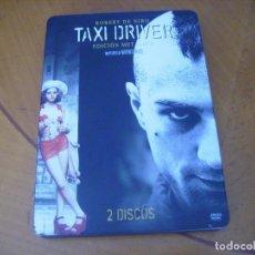 Cine: TAXI DRIVER / ROBERT DE NIRO CAJA METALICA 2 DISCOS DVD. Lote 244531765