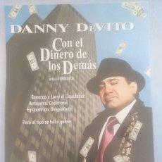 Cine: LOTE DVD CON EL DINERO DE LOS DEMAS ( DANNY DEVITO, GREGORY PECK, PENELOPE ANN MILLER)DESCATALOGADO. Lote 244658780