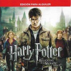 Cine: HARRY POTTER Y LAS RELIQU. MUERTE 2ª DVD. Lote 244658910