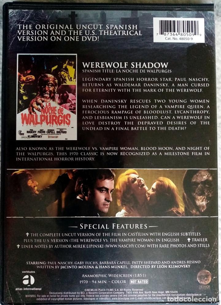 Cine: LA NOCHE DE WALPURGIS - WEREWOLF SHADOW (EDICIÓN AMERICANA ZONA 1) PAUL NASCHY JACINTO MOLINA - Foto 2 - 244718930