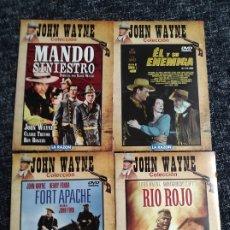 Cine: DVD JOHN WAYNE COLECCION , LOTE 4 DVD - VER TITULOS EN FOTO - WESTERN. Lote 50353856