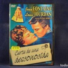 Cine: CARTA DE UNA DESCONOCIDA - DVD. Lote 245171350