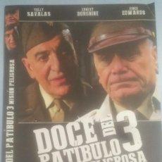 Cine: LOTE DVD DOCE DEL PATIBULO 3:MISION PELIGROSA (DESCATALOGADO CON ERNEST BORGNINE, TELLY SAVALAS). Lote 245173100