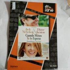 Cine: CTN1779 CUANDO MENOS TE LO ESPERAS DVD EDICION CARTON SEGUNDAMANO. Lote 245312185