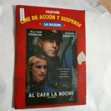 Cine: CTN1786 AL CAER LA NOCHE DVD EDICION CARTON SEGUNDAMANO. Lote 245312845