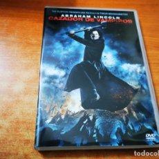 Cine: ABRAHAM LINCOLN CAZADOR DE VAMPIROS DVD DEL AÑO 2012 ESPAÑA TIM BURTON TIMUR BEKMAMBETOV. Lote 245462270
