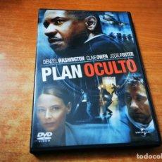 Cine: PLAN OCULTO DVD DEL AÑO 2006 ESPAÑA DENZEL WASHINGTON CLIVE OWEN JUDIE FOSTER. Lote 245463925