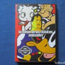 Cine: DVD - LO MEJOR DE LOS CLÁSICOS ANIMADOS/ 6 EPISODIOS / SUPERMAN, BETTY BOOP, POPEYE Y DAFFY. Lote 245582805