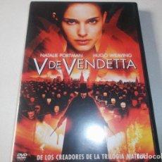Cine: V DE VENDETTA - DVD PELÍCULA - NUEVO - ACCIÓN SUSPENSE - NATALIE PORTMAN - HUGO WEAVING. Lote 245602170