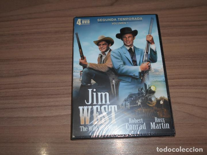 JIM WEST THE WILD WEST TEMPORADA 2 VOLUMEN 1 4 DVD 700 MIN. NUEVA PRECINTADA (Cine - Películas - DVD)