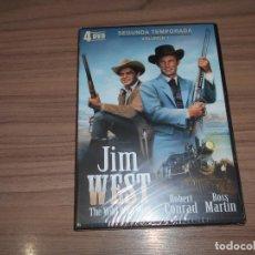 Cine: JIM WEST THE WILD WEST TEMPORADA 2 VOLUMEN 1 4 DVD 700 MIN. NUEVA PRECINTADA. Lote 279374118