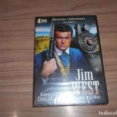 Cine: JIM WEST THE WILD WEST TEMPORADA 2 VOLUMEN 2 4 DVD 700 MIN. NUEVA PRECINTADA. Lote 279374078