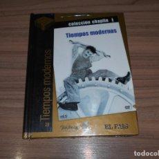 Cine: TIEMPOS MODERNOS EDICION ESPECIAL DVD + LIBRO 60 PAG. CHARLES CHAPLIN NUEVA PRECINTADA. Lote 245786670
