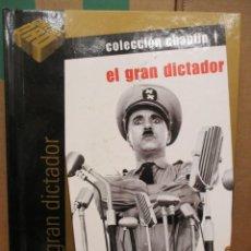 Cine: DVD - EL GRAN DICTADOR - CHARLES CHAPLIN - CHARLOT - CON LIBRO - PEDIDO MINIMO DE 10€. Lote 245958015