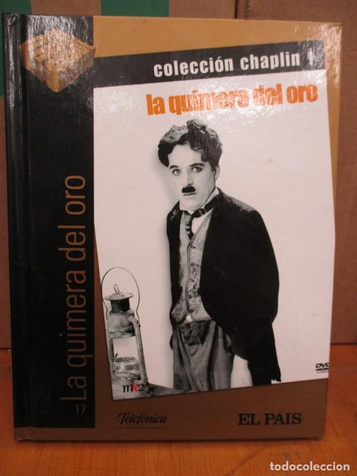 DVD - LA QUIMERA DEL ORO - CHARLES CHAPLIN - CHARLOT - CON LIBRO - PEDIDO MINIMO DE 10€ (Cine - Películas - DVD)