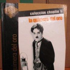 Cine: DVD - LA QUIMERA DEL ORO - CHARLES CHAPLIN - CHARLOT - CON LIBRO - PEDIDO MINIMO DE 10€. Lote 245959060