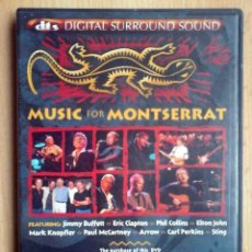 Cine: TODODVD: MUSIC FOR MONTSERRAT (JIMMY BUFFETT, ERIC CLAPTON, PHIL COLLINS, ELTON JOHN, STING...). Lote 246021950