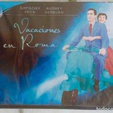 Cine: VACACIONES EN ROMA. GREGORY PECK. AUDREY HEPBURN, DVD AUN PRECINTADO. Lote 246489490