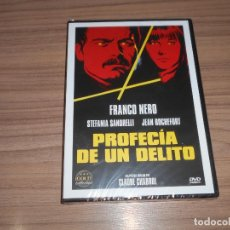 Cine: PROFECIA DE UN DELITO DVD DE CLAUDE CHABROL FRANCO NERO STEFANIA SANDRELLI NUEVA PRECINTADA. Lote 246580250