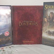 Cine: SERIE COMPLETA # EL SENOR DE LOS ANILLOS DVD + VHS. Lote 247529765
