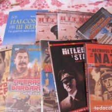 Cine: PACK NAZIS..HITLER..8 DVDS+LIBRO. Lote 248467925