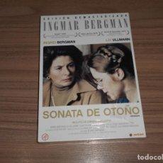 Cine: SONATA DE OTOÑO EDICION DVD + LIBRO INGMAR BERGMAN INGRID BERGMAN LIV ULLMANN NUEVA PRECINTADA. Lote 263212490