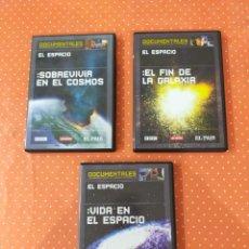 Cine: 3 DVD DE DOCUMENTALES DE LA BBC SOBRE ASTRONOMÍA EDITADOS POR EL PAÍS. Lote 249560325