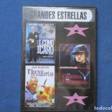 Cinema: DVD - I,COMO ICARO + LA COCINA DEL INFIERNO + EL TREN DE LOS ESPÍAS / CAJA FINA / SLIM. Lote 250314840