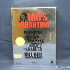 Cine: PULP FICTION - JACKIE BROWN - ABIERTO HASTA EL AMANECER - KILL BILL VOL 1 Y 2 - DVD. Lote 251168475