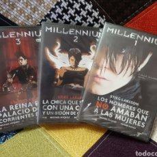 Cine: 3 DVD TRILOGÍA MILLENNIUM I,II Y III (PRECINTADO). Lote 251979745