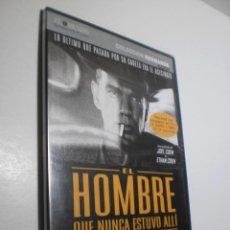Cine: DVD EL HOMBRE QUE NUNCA ESTUVO ALLÍ. HERMANOS COEN. 116 MIN CAJA FINA (BUEN ESTADO, PRECINTADA). Lote 252199075