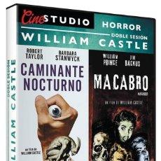 Cine: CAMINANTE NOCTURNO / MACABRO - WILLIAM CASTLE DOBLE SESIÓN. Lote 253362120