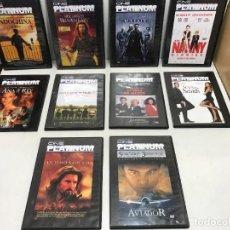 Cine: LOTE 10 DVD COLECCIÓN CINE PLATINUM. Lote 253493185