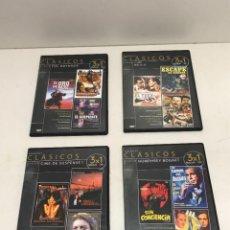 Cine: LOTE 4 DVD 3X1 GRANDES CLASICOS 12 PELICULAS. Lote 253495125