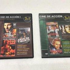 Cine: LOTE 2 DVD 3X1 GRANDES CLASICOS CINE DE ACCIÓN 6 PELICULAS. Lote 253495380