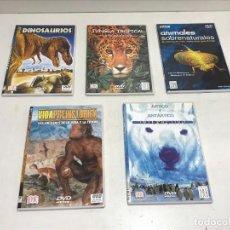 Cine: LOTE 5 DVD DOCUMENTALES NATURALEZ ANIMALES BBC. Lote 253498150