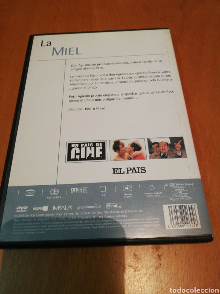 Cine: La miel dvd - Foto 2 - 253572860