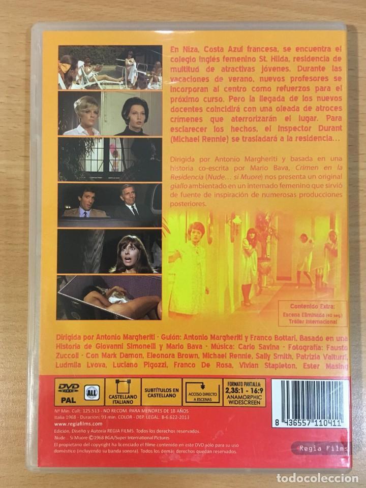 Cine: DVD CINE TERROR GIALLO - CRIMEN EN LA RESIDENCIA / NUDE... SI MUORE (1968) - Foto 3 - 253572990